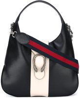 Gucci tiger-head buckle hobo bag - women - Leather/Suede - One Size