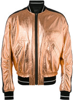 Haider Ackermann metallic bomber jacket