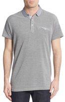 Saks Fifth Avenue Trim-Fit Plaid-Trimmed Polo Shirt