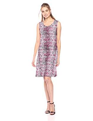 Star Vixen Women's Classic Str Ponte Knit Sleeveless Midi-Length Sheath Dress