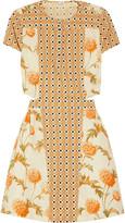 Suno Printed cutout cotton dress