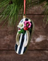 Mackenzie Childs MacKenzie-Childs St. Tropez Flip Flop Glass Ornament