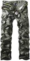 Aubig 100% Cotton Outdoor Desert Camouflage Pants CARGO PANTS Military for Men