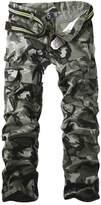 Aubig Mens Cotton Outdoor Desert Camouflage Pants Cargo Pants Military