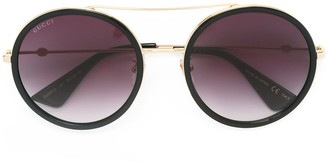 Gucci Round Frame Metal Sunglasses