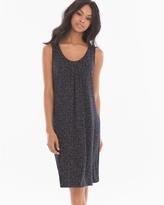 Soma Intimates Sleeveless Pleat Front Short Dress Tiny Texture Black