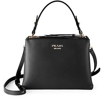 Prada Large Matinee Leather Top Handle Bag