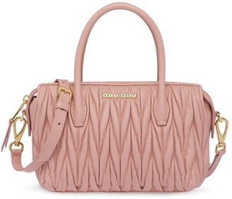 Miu Miu Matelasse leather Avenue bag