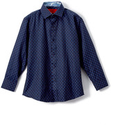 Elie Balleh Boys' Button Down Shirts NAVY - Navy Gingham Button-Up - Boys