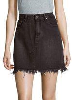 MinkPink Sidewalk Classic Cotton Mini Skirt