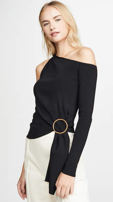 Edition10 One Sleeve Ring Detail Top