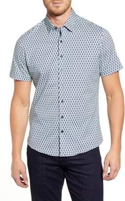 Stone Rose Regular Fit Short Sleeve Button-Up Performance Sport Shirt