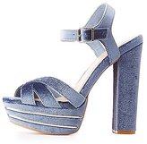 Charlotte Russe Velvet Two-Piece Platform Sandals