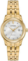 Citizen Eco-Drive Ladies' Gold Tone Watch With Diamond Accents Ew2392-54A