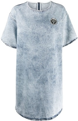 MM6 MAISON MARGIELA Acid-Wash Denim Dress