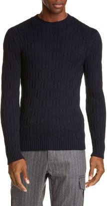 Eleventy Diamond Wool Crewneck Sweater
