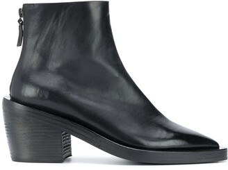 Marsèll Pointed Toe Block Heel Ankle Boots