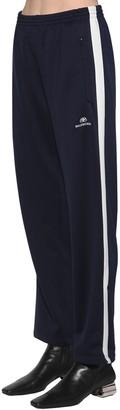 Balenciaga Bb Logo Cotton Jersey Track Pants