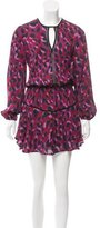 Karina Grimaldi Abstract Print Mini Dress w/ Tags