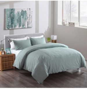 Messy Bed Washed Cotton Duvet Cover and Sham Set, King Bedding