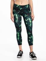 Old Navy Go-Dry Cool Mid-Rise Compression Run Crops for Women