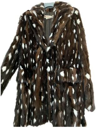 Marni Brown Mink Coat for Women