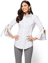New York & Co. Bell-Sleeve Poplin Tunic