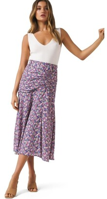 Forever New Zalie Ruched Belted Midi Skirt