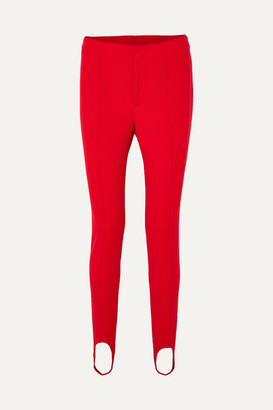 MONCLER GRENOBLE Stretch-twill Stirrup Pants - Red