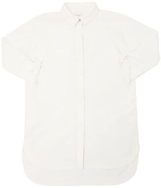 Stretch Cotton Poplin Long Shirt