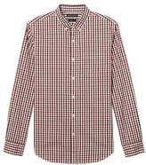 Banana Republic Grant Slim-fit Cotton-stretch Gingham Oxford Shirt