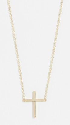 Jennifer Meyer 18k Gold Thin Cross Necklace