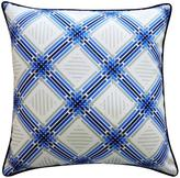 Jiti Argyle Outdoor Pillow Blue