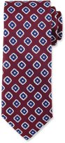 Canali Fancy Diamond Silk Tie, Red