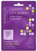 Andalou Naturals Age Defying Instant Lift Firm Hydro Serum Facial Sheet Mask, 6-Count