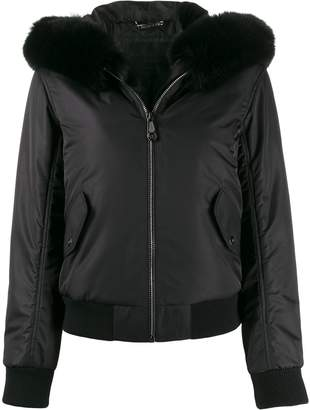 Philipp Plein zipped hooded jacket