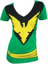 Marvel Phoenix Women's Juniors Deep Vee V Tunic T-shirt