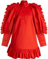 Ellery Kenickie ruffled cotton mini dress