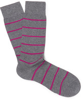 Pantherella - Blavet Striped Egyptian Cotton-blend Socks