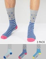 Original Penguin 3 Pack Socks Stripe