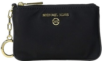 MICHAEL Michael Kors Jet Set Charm Extra Small Key Card Case (Black) Coin Purse