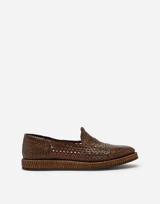 Dolce & Gabbana Derby In Braided Calfskin