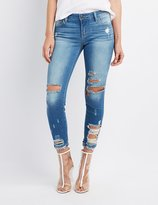 Charlotte Russe Cello Destroyed Skinny Jeans
