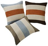 HDX Pillow Cover Set of 3 Modern Stripe Textured Polyester Decorative Pillow Cover