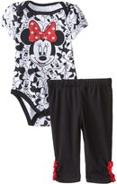 Disney Baby Girls' Minnie Mouse Girl Bodysuit and Pant Set, Classic