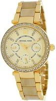 Michael Kors MK5842 Women's Mini Parker Stainless Steel Watch w/ Crystal Accents