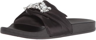 Kenneth Cole Reaction Women's Pool Slide Sandal with Faux Jewel Detail