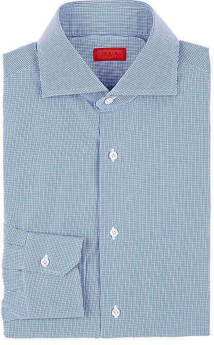 Isaia Men's Micro-Checked Cotton Shirt