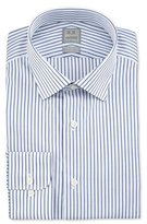 Ike Behar Textured Stripe Dress Shirt, Blue