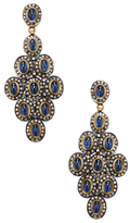 Artisan 18K Gold, Blue Sapphire & 2.69 Total Ct. Diamond Drop Earrings